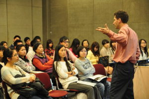 Giving an IELTS Seminar to the public a few years back.