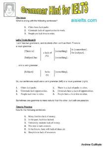 Grammar Hint 11