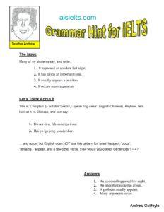 Grammar Hint 14