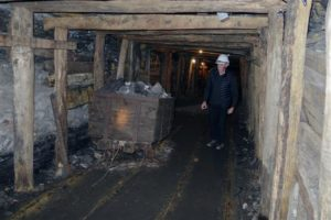 7. Inside a coal mine