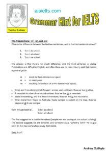 Grammar Hint 8