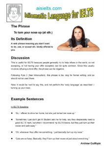 12. Idiomatic Use, turning up your nose-page-001