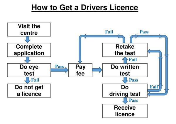 Real IELTS W1, Drivers licence flowchart.jpg